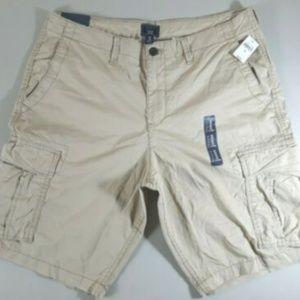 Gap NWT Mens Khaki Lived In Cargo Shorts Size 36
